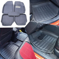 Car Floor Mats Front And Rear Carpet Universal Auto Mat All Weather Waterproof 5pc