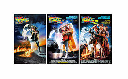 Back To The Future 11 X 17 Movie Collectorand039s Poster Prints Set Of 3
