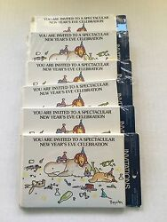 Vintage Sandra Boynton New Year Party Invitations Nos Cards Lot Of 6 Packs Of 8