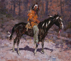 Howard Terpning Horse Feathers Cnvs S/nw/coa Ebay Low-offer Free S/h