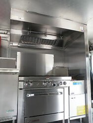 6 ' Type L Hood Concession Kitchen Grease Hood,blower,curb / Truck / Trailer