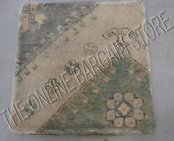 Pottery Barn Vintage Hand Knotted Sofa Chair Throw Pillow Cover Wool Woven 24
