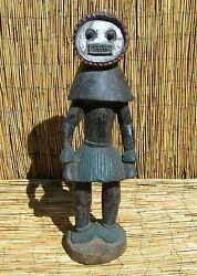 African Baule Figure From Ivory Coast 31 Tall