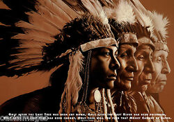 Native American Quote Photo Print A5/ A4 Cree Tribe Prophesy - Environment