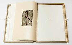 Robert Mangold The Nonconformist's Memorial, 1992.signed, Numbered Artist Book.