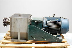 Siemens Gearbox Gear Reducer And Rgzesd Electric Motor 10 Hp 230/460 V 215t Frame