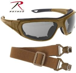Coyote Interchangeable Sunglasses  Goggles Tactical Optical System Rothco 10388 $18.99