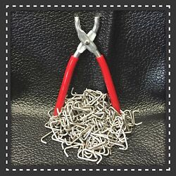 Hog Ring Pliers And Stainless Steel Hog Rings 3/4 Seat Covers Fences Netting