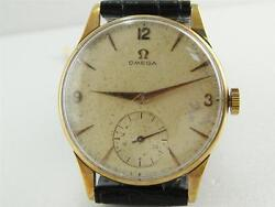 Authentic Omega Solid 14k Gold Cal 30t2 Manual Winding Watch