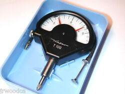Nos Kafer Mahr Germany T100 Dial Comparator Indicator .001 With Remote Plunger