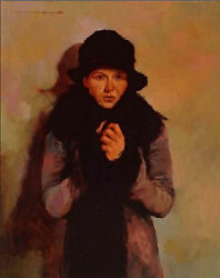 Joseph Lorusso Her Favorite Coat- Mixed Media On Paper         SNwCOAEBAYLOW