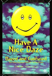 Dazed And Confused Cinemasterpieces Movie Poster Stoned Stoner Smiley Face