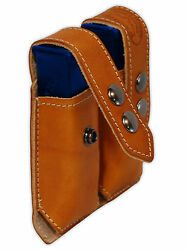 NEW Barsony Tan Leather Dbl Mag Pouch for Ruger Kel-Tec MiniPocket 22 25 380