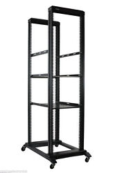42u Open Frame Network Server Rack 800mmbase Deep With 3 Pairs L-rails