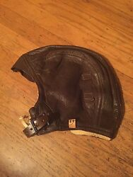 Dead Stock Naf Ww2 Usn Usmc Pilot And Aircrew Leather Flying Helmet Type 1092-72