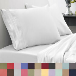Sweet Home Collection 1800 Thread Count Sheet Set Egyptian Quality Deep Pocket