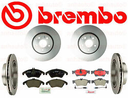 Brembo  Front & Rear Brake Rotors  BremboBosch  Pads E350 with Vented Rear Disc