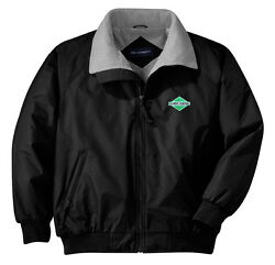 Illinois Central Green Diamond Embroidered Jacket With Front Logo [06]