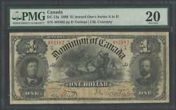 Canada Dc-13a 1898 1 Inward Oneand039s Series A To D -- Pmg Vf 20 - Wlm1207