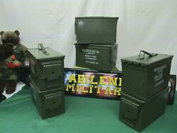 6 pack 50 Cal Ammo Can Steel Storage M2A1 6 Cans NO RUST INSIDE EXCELLENT
