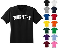 Custom Personalized Adult Men's T-shirt Choose Text Front Only ARCHED TEXT