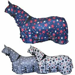 Star Print Bug Protection Combo Fixed Neck Breathable Summer Sheet Mesh Fly Rug