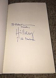 Hillary Clinton And Bill Clinton Signed Book Titled Hard Choices Proof Photos