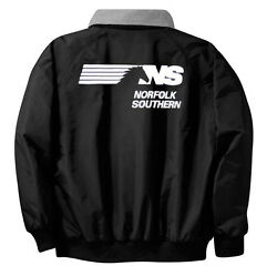 Norfolk Southern Thoroughbred Logo Embroidered Jacket Front And Rear [68r]
