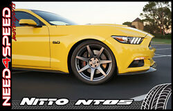 19 Project 6gr Graphite Wheels And Tires Nitto Invo Nt05 For Mustang S550 S197