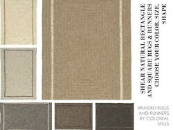 Shear Natural Braided Rugs And Runners By Colonial Mills. All Sizes And Colors