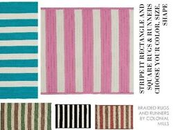 Stripe It Braided Rugs And Runners By Colonial Mills. All Sizes And Colors