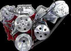Sb Chevy Ac Dr Side Front Acces Billet Dress Up Kit For Long Nose Wp Cr-x015