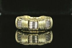 2200 Roberto Coin 18k Yellow White Gold Appassionata Woven Weave Band Ring 5.5