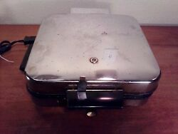 Lot Of 2 Waffle Iron Griddles Vintage General Electric And Super - Art Deco Style