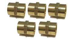 5 Pack Brass Hex Coupling 1 Coupler Union Fitting Adapter Air Fuel Water
