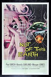 Not Of This Earth Cinemasterpieces Sci Fi Space Alien Original Movie Poster 1957