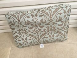 Frontgate Sorrento Outdoor Chair Back Cushion Pillow 30x20 Softly Elegant New