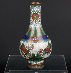 China 19./20. Jh. - A Chinese Cloisonnandeacute Bottle Vase Lao Tian Li - Cinese Chinois