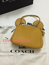 Coach Disney 37980 crossbody PurseBag Yellow Mickey Mouse Ears Limited Edition