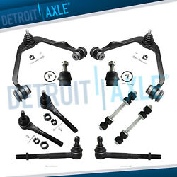 10pc Front Upper Control Arms Tie Rods For Ford Expedition Lincoln Navigator 2wd