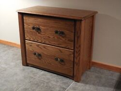 Home Office Lateral Filing Cabinet Solid Oak Modern Style 1036