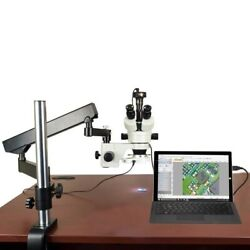 7-45x Stereo Microscope+articulating Arm Stand+54 Led Ring Light+3.0m Usb Camera