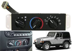 HVAC Heater Control Panel Air Conditioning Switch For 1999-2004 Jeep Wrangler TJ