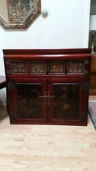 Antique Chinese Cabinet And Hutch Two Piece Furniture Set 150 Years Old Zhejiang
