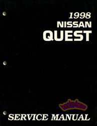 SHOP MANUAL QUEST VILLAGER SERVICE REPAIR NISSAN BOOK MERCURY HAYNES CHILTON