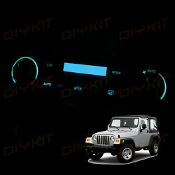 Ice Blue AC Air Climate Heater Bulbs Control Knob LED Lights for Wrangler 02-06