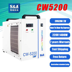 Water Chiller For A Single 8kw Spindle Cnc Welding 2x 100w Laser Tube Cw 5200ah