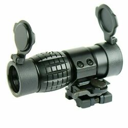 3x Magnifier Scope Sight With Flip To Side Qd Mount For 20mm Rail