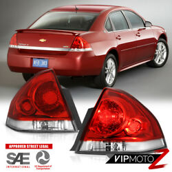[left+right] For 06-13 Chevy Impala Factory Style Red Tail Light+wiring Harness