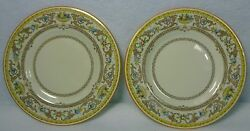 Royal Doulton China Gloucester V1827 Pattern Bread Plate Set Of Two 2 - 6-1/8